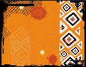 民族のベクトルのレトロなグランジ背景 — ストックベクタ