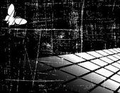 黒と白のベクトルの抽象的な背景 — ストックベクタ