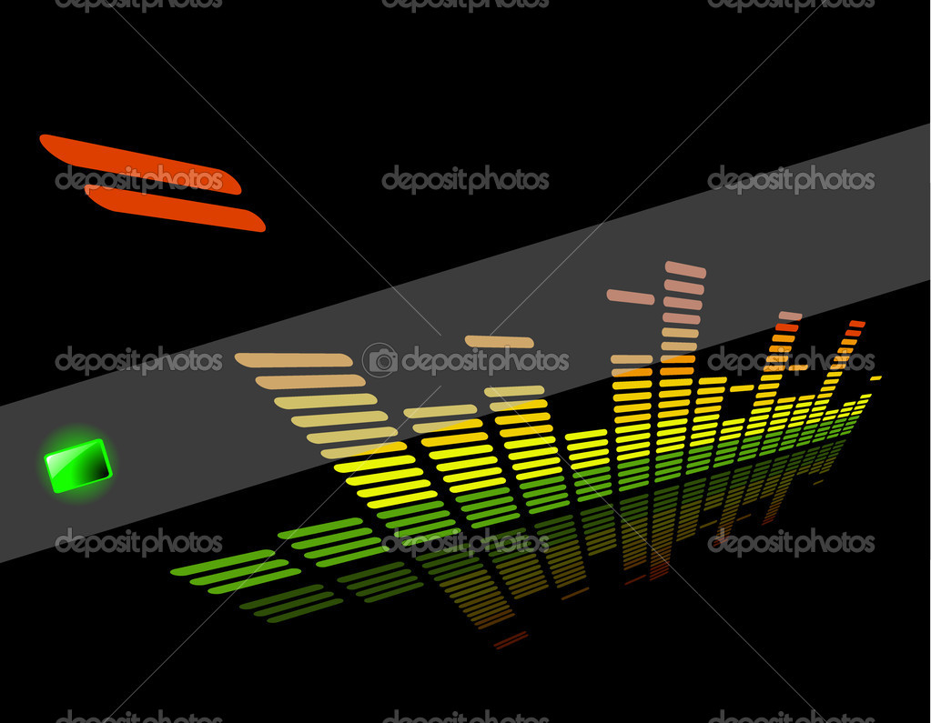 The vector  equalizer abstract background — Stock Vector #9063539