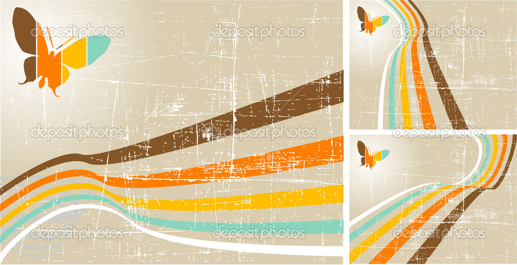 The vector retro grunge background — Stock Vector #9069118