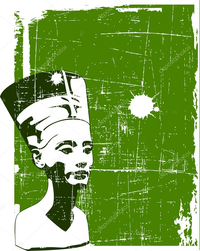 Vector head of Nefertiti — Stock Vector #9069237