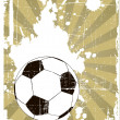 The vector grunge background with soccer ball — Stock Photo