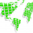 The vector green world map — Stock Photo