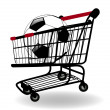 Stock Photo: The vector Shopping cart with Sale label