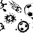 The vector soccer ball blot — Stock Photo