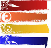 Vector color banners set — Stock Photo