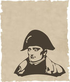 The vector Napoleon Bonaparte head — Stock Photo