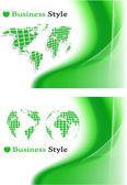 The vector green abstract background set — Vetor de Stock