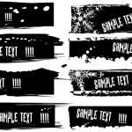 Vector black banners set — Stock Vector