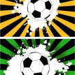 The vector grunge background with soccer ball — Stock Vector #9720245