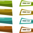 The vector color banner set — Stock Vector