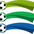 The vector color soccer banner set — 图库矢量图片