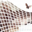 The brown vector abstract background — Stock vektor