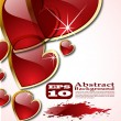 The vector abstract hearts background eps 10 - Vektorgrafik