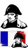 The vector Napoleon Bonaparte head — Stock Vector