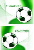 Sfondo vettoriale astratta sport calcio — Vettoriale Stock