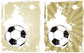 The vector grunge background with soccer ball — Stock Vector