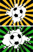 The vector grunge background with soccer ball — Stockvektor