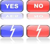 O conjunto de botão de vetor de cor — Vetorial Stock