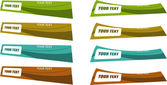 Il vettore colore banner set — Vettoriale Stock