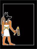 The vector egyptian god — Stock Vector