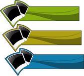 O conjunto de banner de cor do vetor — Vetorial Stock