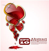 The vector abstract hearts background eps 10 — Stockvektor