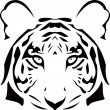 The vector abstract tiger head — Stock Vector