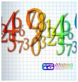 L'arrière-plan nombre abstrait couleur — Vecteur
