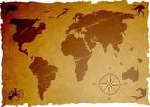 Vektör grunge eski harita — Stok Vektör