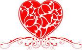 Os corações abstractas vector fundo eps 10 — Vetorial Stock