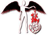Το διάνυσμα αφηρημένη καρδιές φόντο e — Διανυσματικό Αρχείο