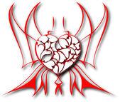 El vector corazones abstractos de fondo — Vector de stock