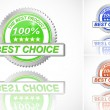 Best Choice Color Label set on White Background — Stock Vector