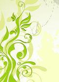 Abstract vector green summer background — Stock Vector