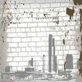 Vektor abstrakt grunge vägg bakgrund — Stockvektor