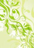 抽象矢量绿色夏天背景 — 图库矢量图片