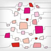 Retro abstract colorful quadrat entwurfsvorlage — Stockvektor