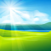 Abstract summer landscape background — Stock Vector
