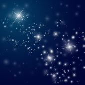 Abstraktní hvězdnaté noční obloha — Stock vektor
