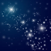 Cielo notturno stellato astratta — Vettoriale Stock