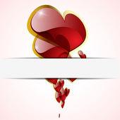 Vector background Day Valentine — Stock Vector