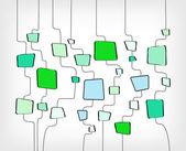 Ретро абстрактный дизайн красочный квадратный шаблон — Cтоковый вектор
