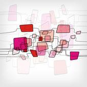 Retro Abstract Design Colorful Square Template — Stock vektor