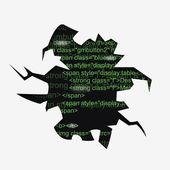 Abstrakt vektor hål med programmet texten — Stockvektor