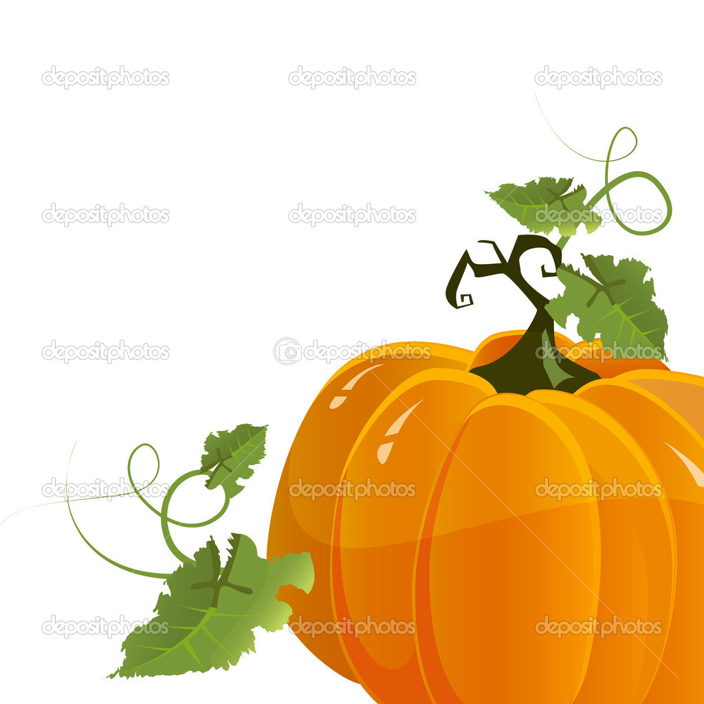 Vector halloween pumpkin isolated on white background — Stock Vector #9766978