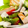 Vegetable salad with roasted chicken meat — Stock Photo #10116484