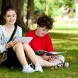 Students outdoor — Stock Photo #10531535