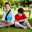 Students outdoor — Stock Photo