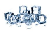 Ice cubes isolated on white background — Stock Photo